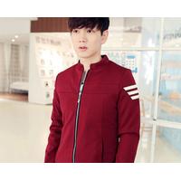 Aó khoác nam vải dù màu đỏ phong cách trẻ trung, năng động