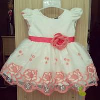 Đầm công chúa ren hoa hồng cam