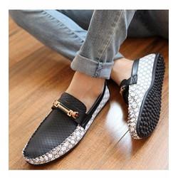 Giày mọi nam dạo phố cá tính Mã: GH0118 - ĐEN