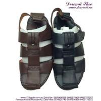 Shop giày nam : Sandal da nam bít mũi mẫu mới HOT nhất hiện nay SDN42