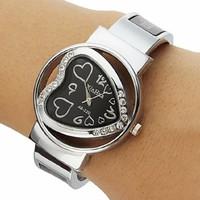 Sale!! Giá gốc!! Đồng hồ XinHua hình tim đính ngọc GE037 hoàn hảo