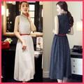 DÁNG CHUẨN !! Đầm Vintage chấm bi cổ trụ - 1631