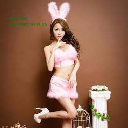 C021 Cosplay nàng thỏ hồng dễ thương vô cùng quyến rũ
