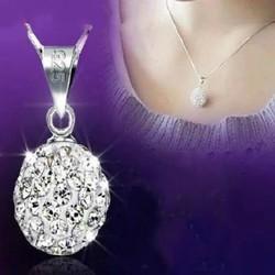Dây chuyền bạc đính đá thời trang hiện đại phong cách Hàn Quốc