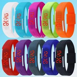 Đồng hồ led đeo tay thời trang silicone - chống nước