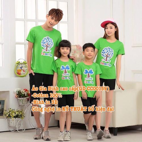 Áo Gia Đình Cao Cấp GD-CC00159 set 4 áo