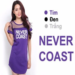 Đầm thun phối lưới Never Coast