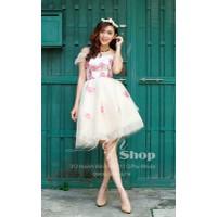Đẹp Shop - Xưởng may chuyên sỉ - Đầm ren xòe tay nhún công chúa