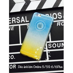 Ốp dẻo ánh kim Ombre iPhone 5 5S