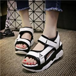 Giày Sandal Nữ đế dày quai dán cá tính phong cách Hàn Quốc - SG0089