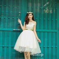 ĐẸP SHOP - Xưởng may chuyên sỉ - Đầm ren xòe bẹt vai công chúa