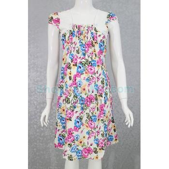 Đầm bầu mặc nhà vải bông tôn