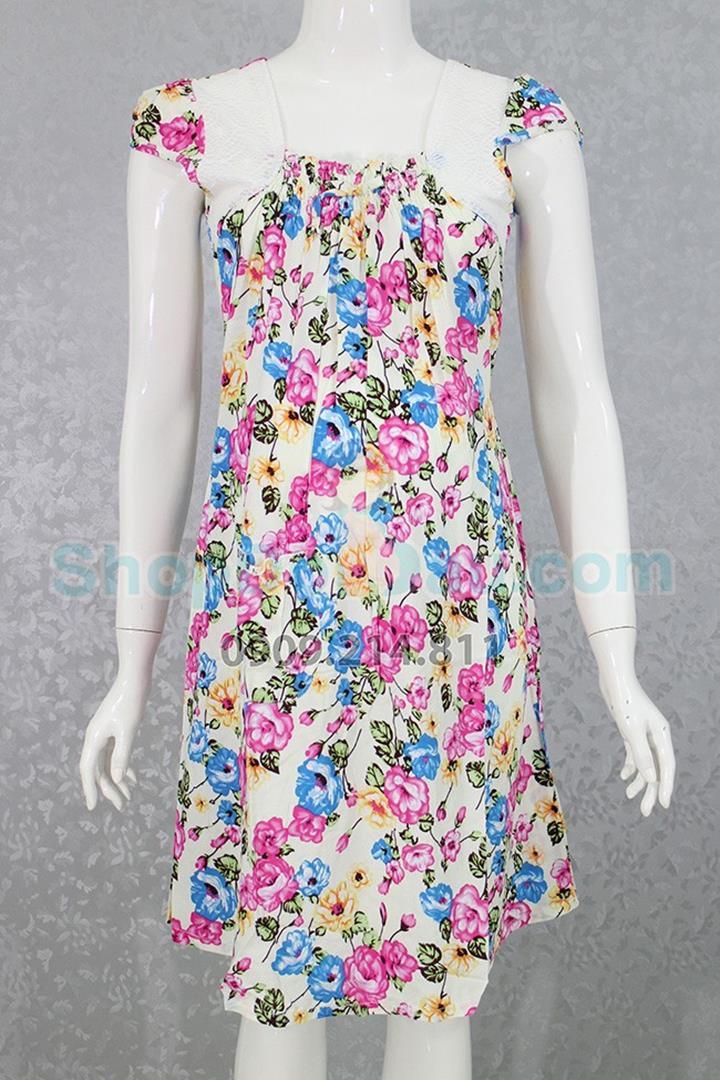 Đầm bầu mặc nhà vải bông tôn 1
