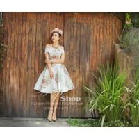 ĐẸP SHOP - Xưởng may chuyên sỉ - Đầm bẹt vai hoa cách điệu