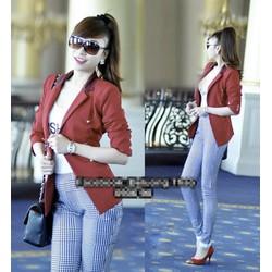 Áo khoác vest cổ phi 6 nút giống bella VK34