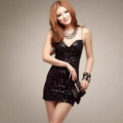 Đầm ôm 2 dây nữ tính,kiểu dáng sang trọng,phong cách Hàn Quốc