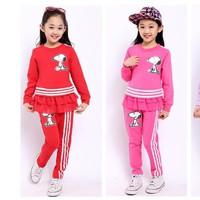Set áo và quần thu đông cao cấp nhập khẩu cho bé gái V099