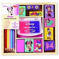 Bộ đồ chơi gỗ gồm 10 con dấu hình Disney Minnie.Hàng nhập từ USA
