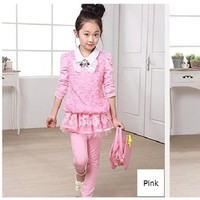 Set áo quần thu đông cao cấp nhập khẩu cho bé gái V097