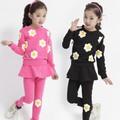Set áo và quần váy thu đông nhập khẩu cao cấp cho bé gái V100