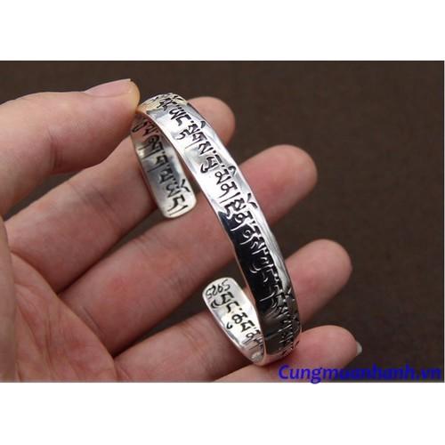 Vòng tay khắc thần chú Om Mani Padme Hum  - VT202 - 3844986 , 2014288 , 15_2014288 , 2430000 , Vong-tay-khac-than-chu-Om-Mani-Padme-Hum-VT202-15_2014288 , sendo.vn , Vòng tay khắc thần chú Om Mani Padme Hum  - VT202