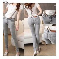 Quần jeans dài yếm rách Mã: QD710