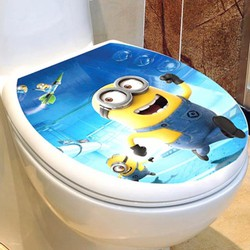 Combo 2 Decal Dán Nắp Toilet 3D