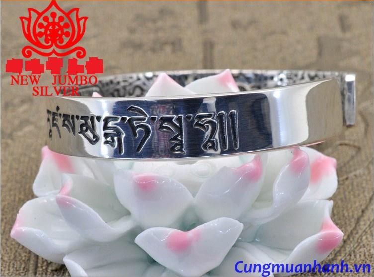 Vòng Tay Khắc Thần Chú Và Hoa Văn Tây Tạng - VT206 4