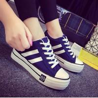 Giày bánh mì nữ cột dây A7221S