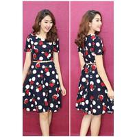 Đầm Xòe Cherry Thời Trang Cao Cấp