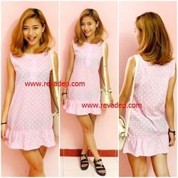 Váy xuông bi v2218