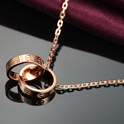 Dây chuyền Cartier LOVE vàng,vàng hồng - Trang sức Titan