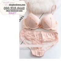 bộ đồ lót thun ren mịn hàng xuất khẩu hiệu lasenza - XK077
