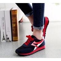 Giày bata sọc đỏ bóng