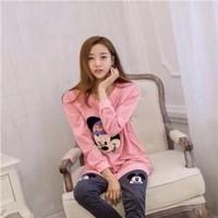 Sét đồ bộ mặc nhà hình mickey hồng dễ thương SEB237