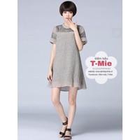 Váy bầu chất vải nhún sang trọng, hàng nhập khẩu Hàn Quóc