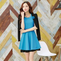 Set Áo Vest + Đầm Xòe phong cách Hàn
