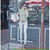 Quần jean nữ hot girl lưng cao form chuẩn tôn dáng đẹp QJE242