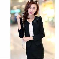 Áo vest đính nút gắn hoa  đen LL00175_3