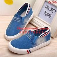 G166 - Giày bata jean rách