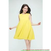 Shop bà bầu : Đầm oversize suông sát nách váy xòe sành điệu uDBG13