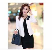 Áo vest đính nút gắn hoa trắng LL00175_2