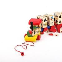Đồ gỗ dạng đồ chơi tàu hoả bằng gỗ