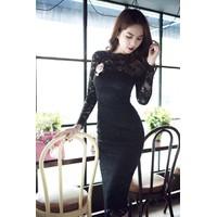 Đầm Ren Body Tay Dài Sang Trọng