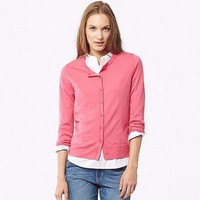 Cardigan lông cừu nữ màu 12 Pink hãng Uniqlo - hàng nhập Nhật