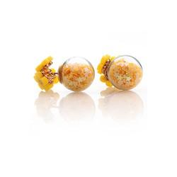 bông tai chuôi ba hoa bi sao vàng