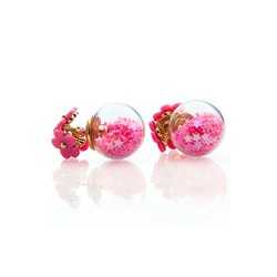 bông tai chuôi ba hoa bi sao hồng