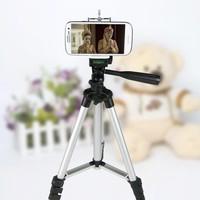 Chân máy đa năng Tripod 1,1m + Đầu gắn cho điện thoại và máy ảnh