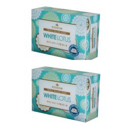 2 Xà bông trắng da Rossom White Lotus Triple Milled Soap 90g