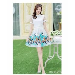 Mã số  580333 - Váy xòe cao cấp thêu hoa